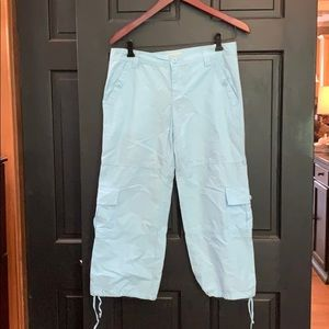 New Tommy Hilfiger blue Capri cargo pants 7